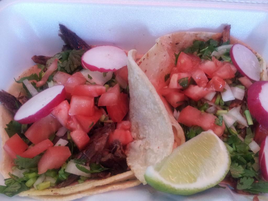 tacos from taqueria el paisa