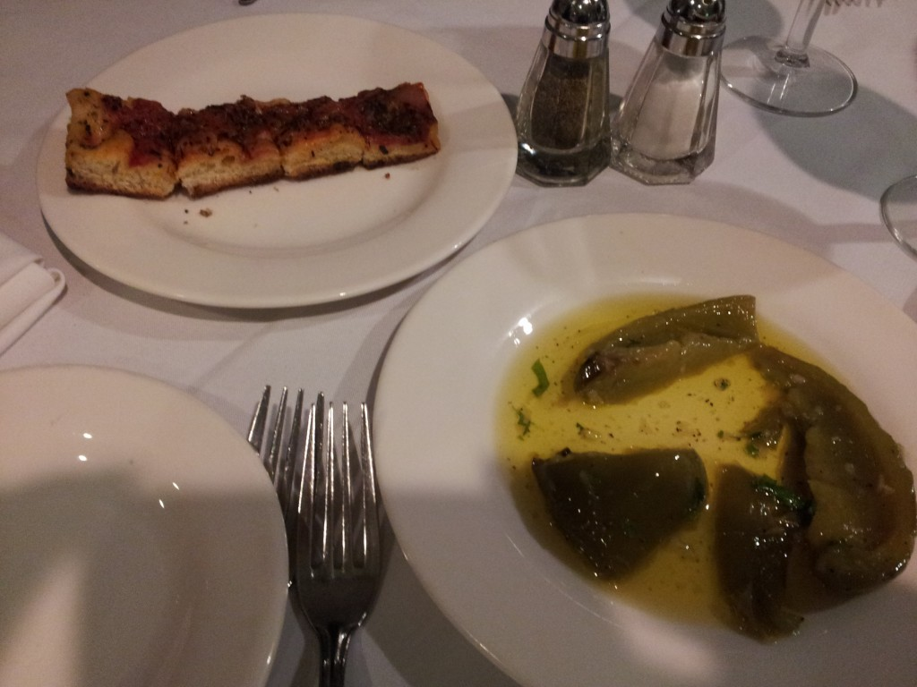 focaccia & garlic peppers