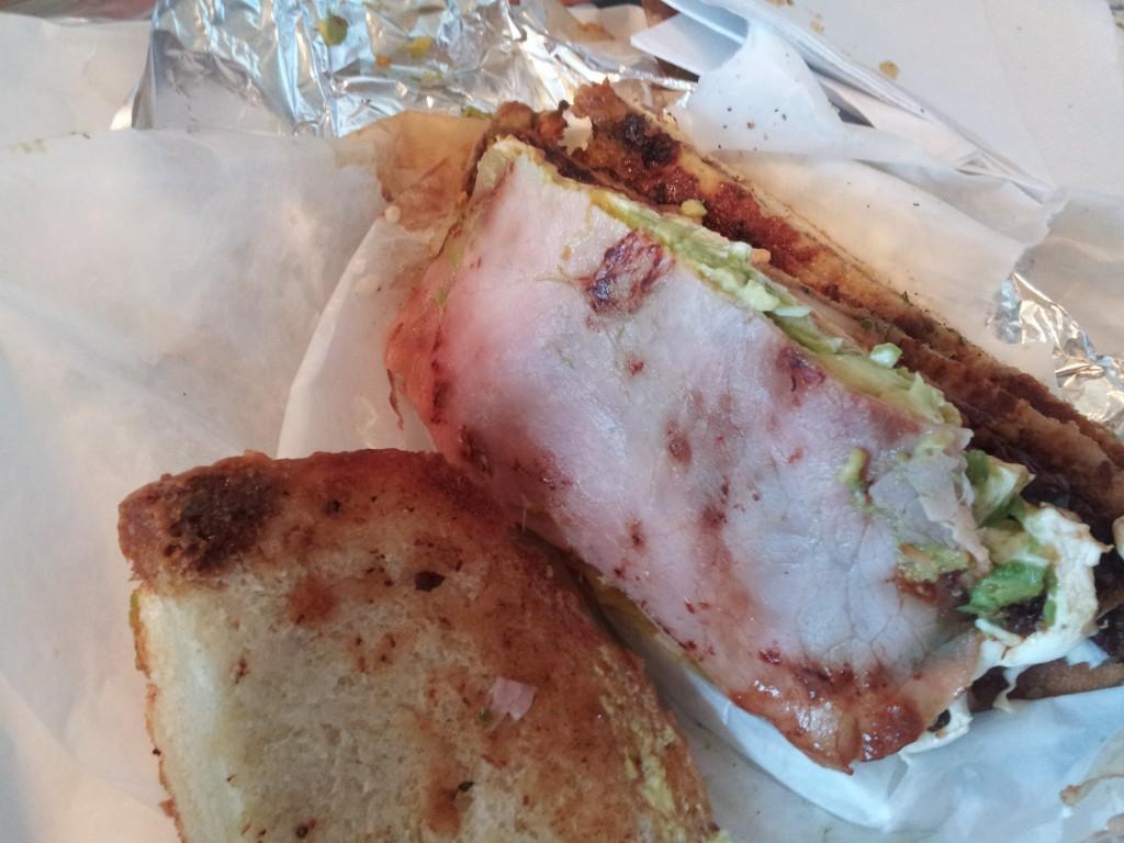 Bonus ham on a cemita