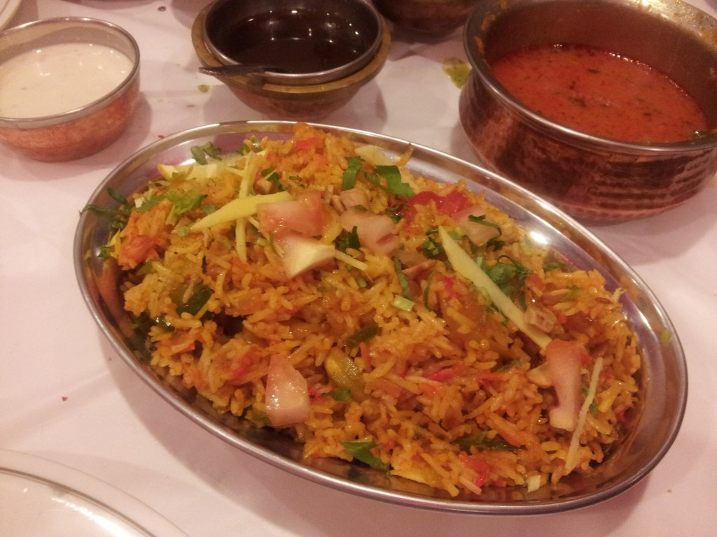shrimp biriyani