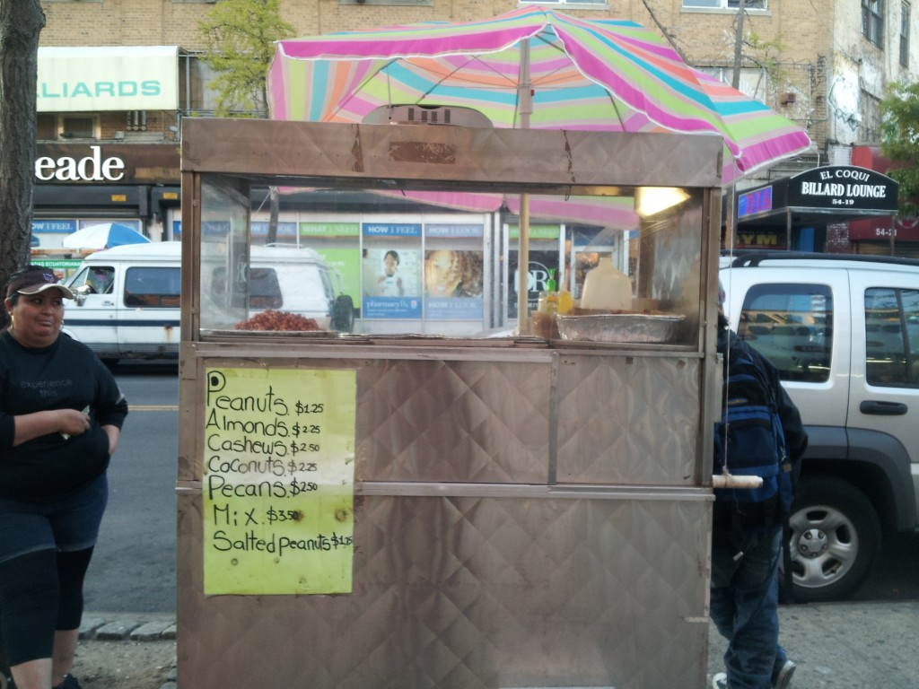 Nut cart in Ridgewood, Queens
