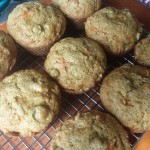 Foraging in Forest Park: Japanese Knotweed, Carrot & Apple Muffins